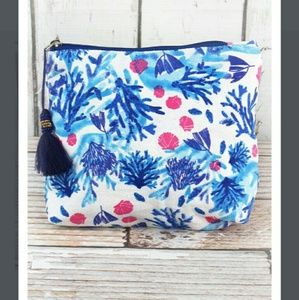 Handbags - New Coral Cosmetic Bag with Tassel!